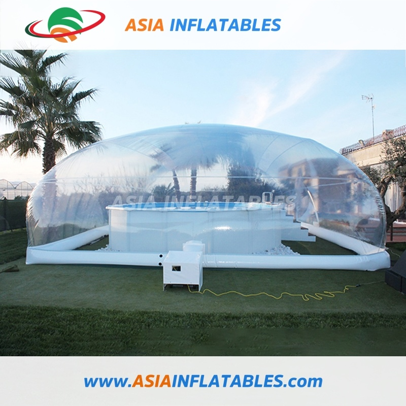 [Hot Item] Outdoor Inflatable Swimming Pool Cover, Water Pool Bubble Cover