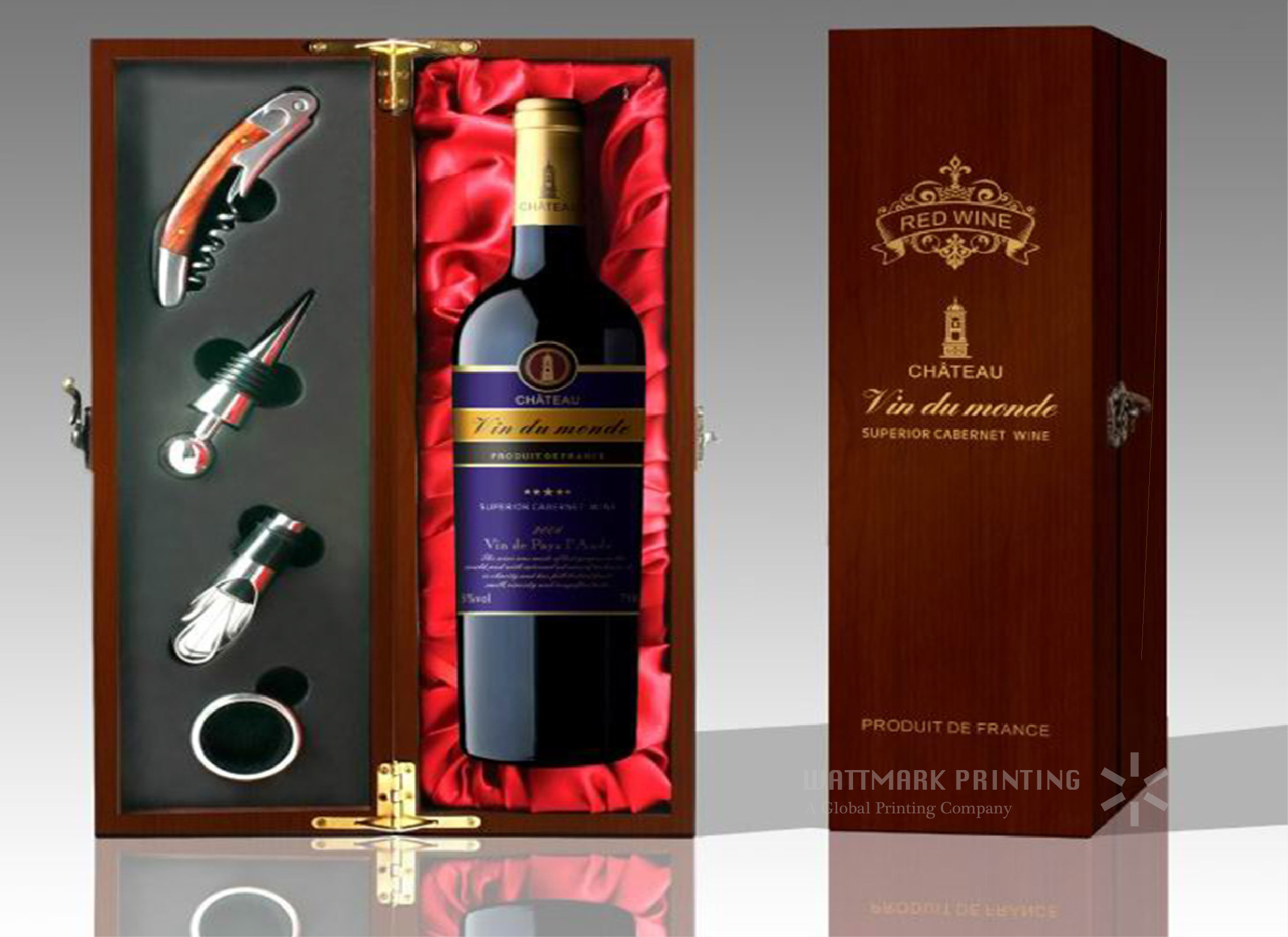 Hot Item Fashionable Decorative Wine Bottle Packaging Gift Tin Box Wine Box Producer