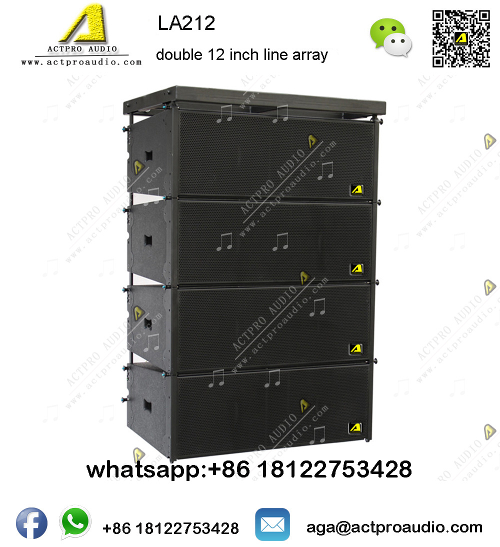 China Pro Audio La212 Double 12 Inch Full Range Line Array Speaker Outdoor Pa Professional Powered Active System