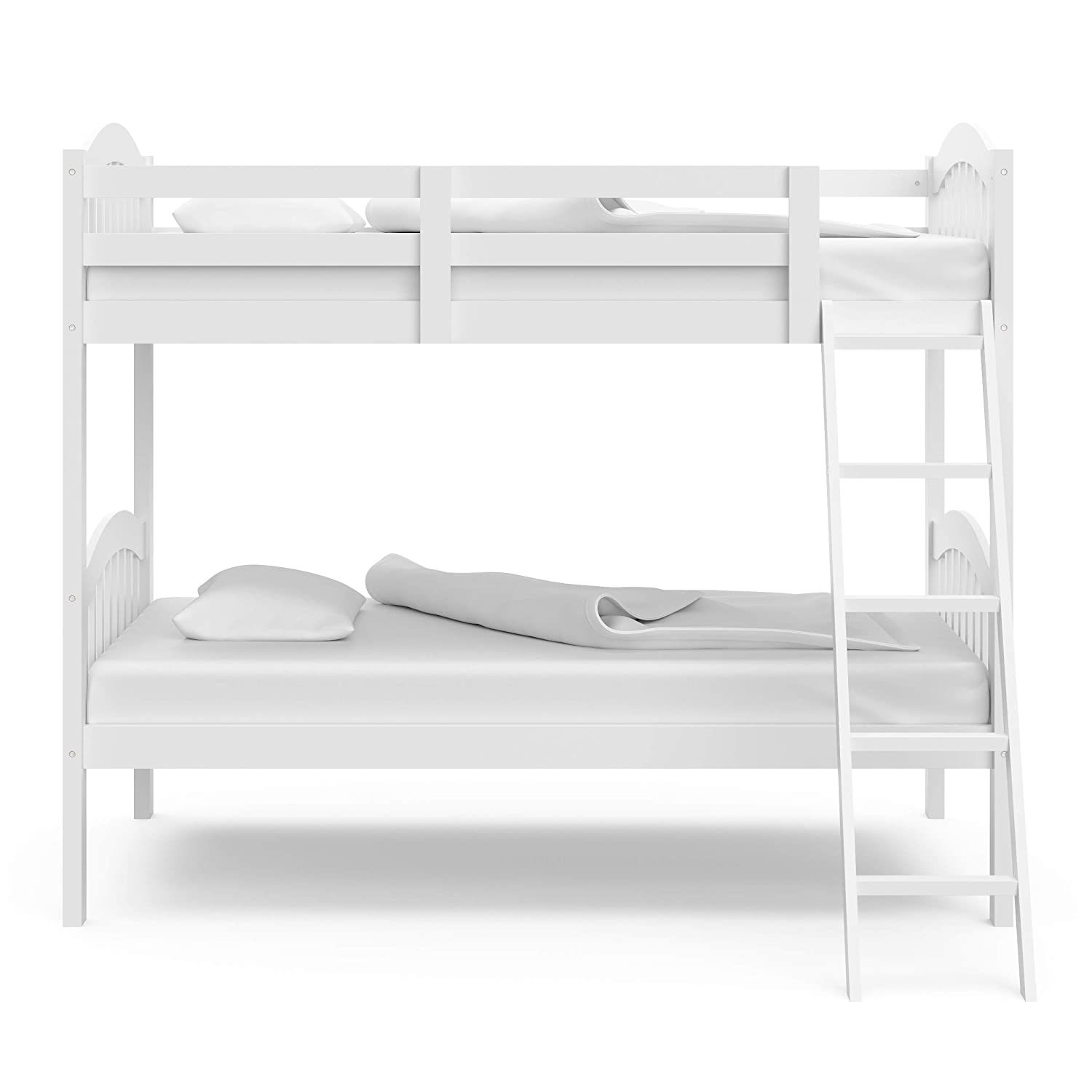 Picture of: China Solid Wood Bunk Bed With Trundle Bed Pine Wood Finished China Bunk Bed Wooden Bed
