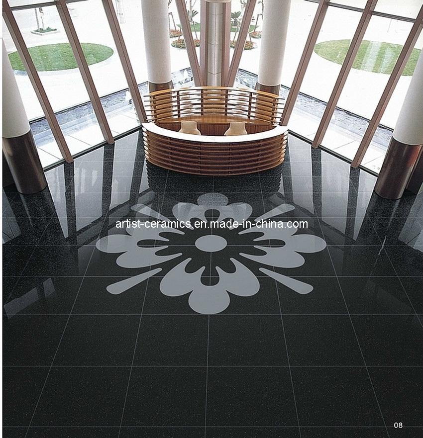 Super Black Polished Porcelain Ceramic Floor Tile From China