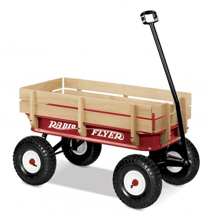 Four Wheel Wooden Wagon Tool Cart for 1-2 Years Baby pictures & photos