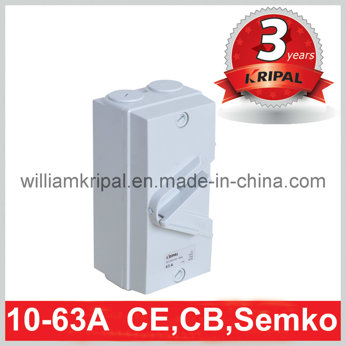 IP66 63A 4p Isolating Switch / Isolator Switch