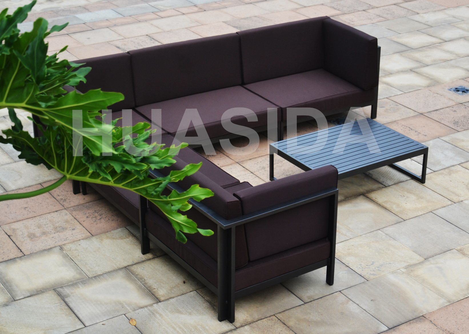 All Welded Aluminum Modular Big Outdoor Sofa Set