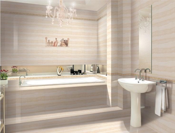Glazed Porcelain Tile Bathroom Models