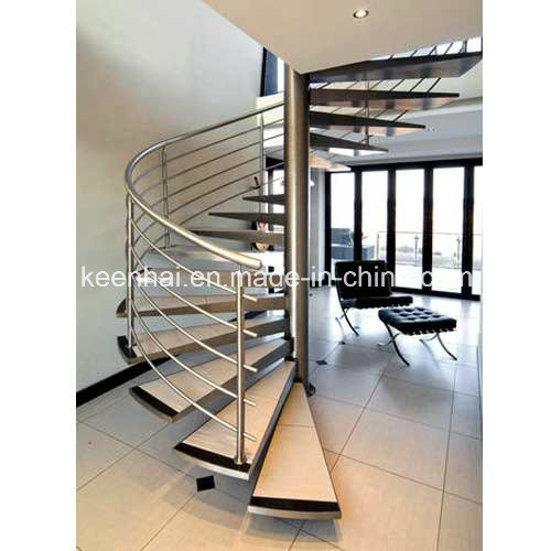 Modern Design Stainless Steel Spiral Staircase