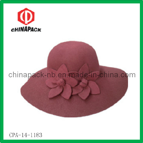 79dce585d37 China Wide Brim Wool Floppy Leisure Hats with Flowers (CPA-14-1183 ...