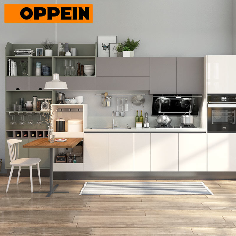 China Oppein Straight Line Modern Lacquering Kitchen Sink Cabinets China Straight Kitchen Cabinets Lacquering Kitchen Cabinet