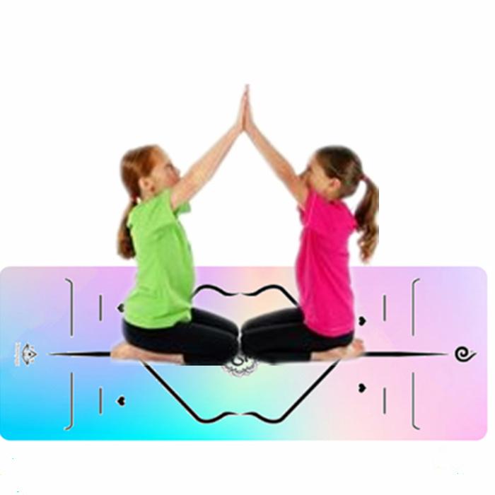 China Instructional Microfiber Suede Custom Logo Yoga Mat With