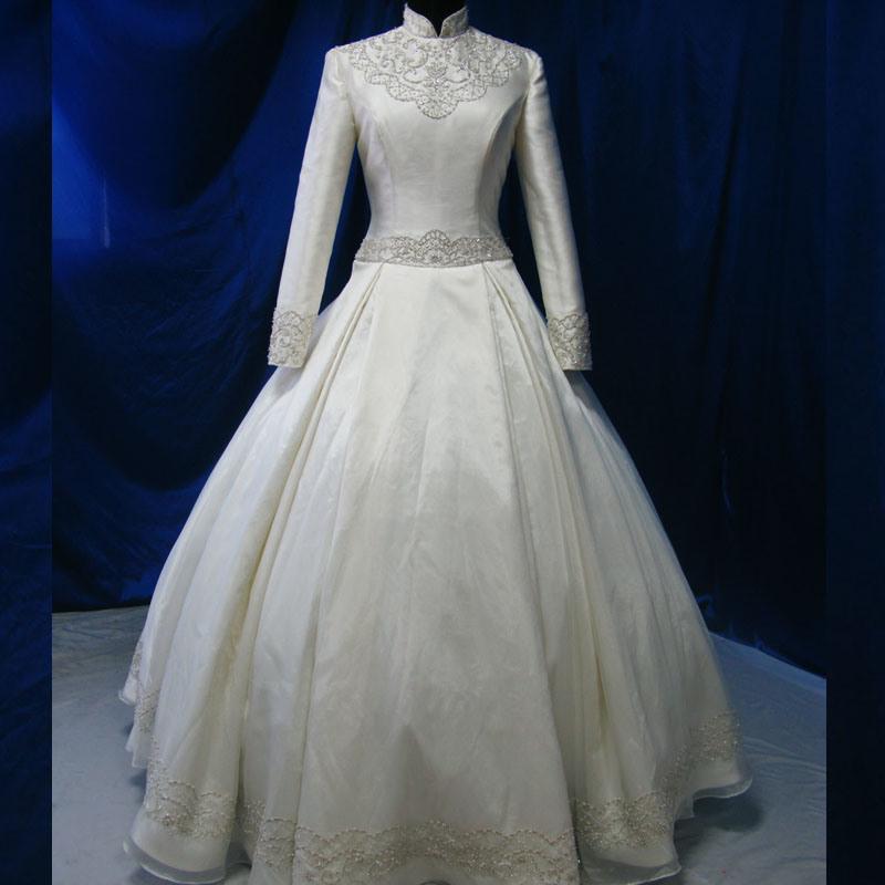 China Handmade Turkish Bridal Gown Muslim Wedding Dress Photos ...