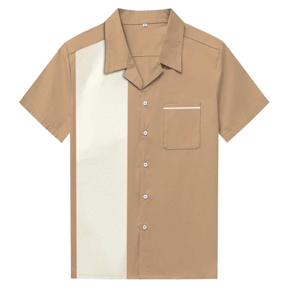 China Best Selling Custom Made Fashion Mens Casual Coffee Shirts
