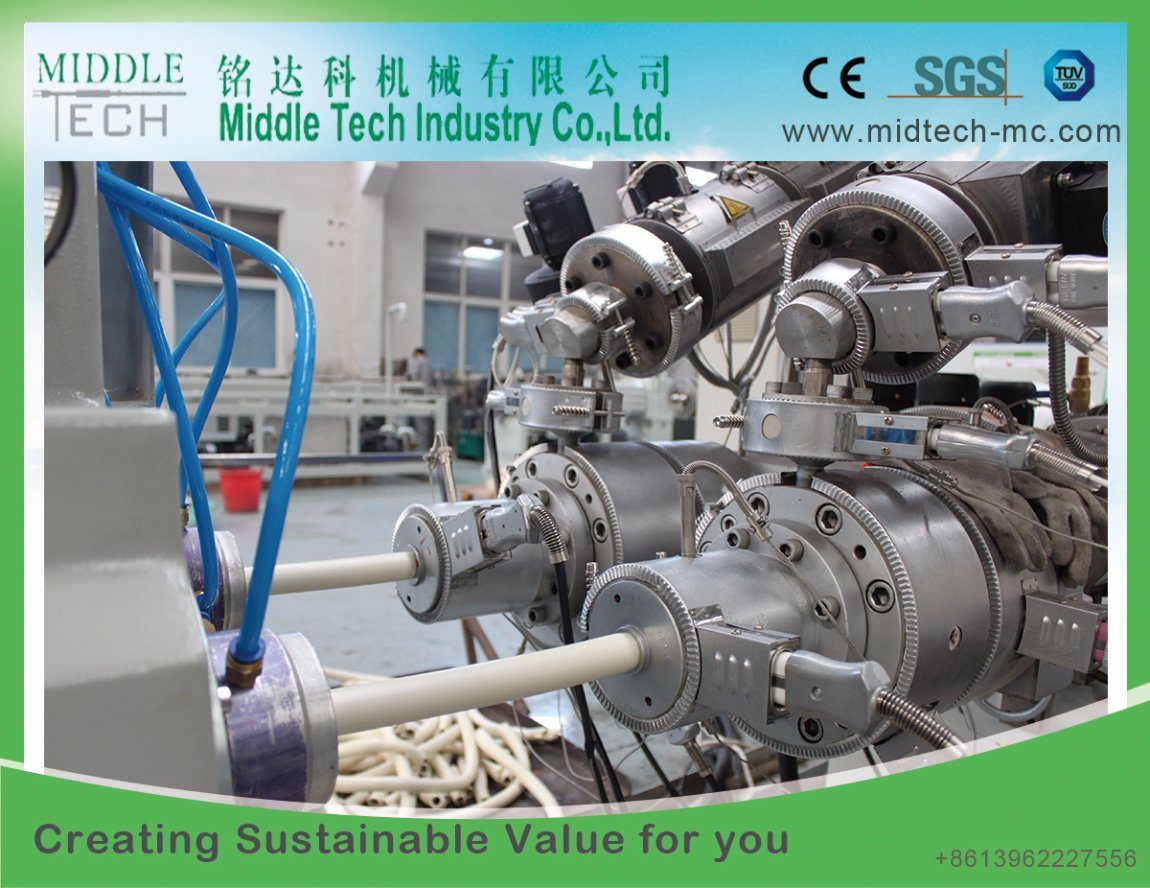 China Plastic Pvc Upvc Electricity Electric Electrical Conduit Cable Pipe Through Which Wires Are Run This Tube Hose Extrusion Production Line