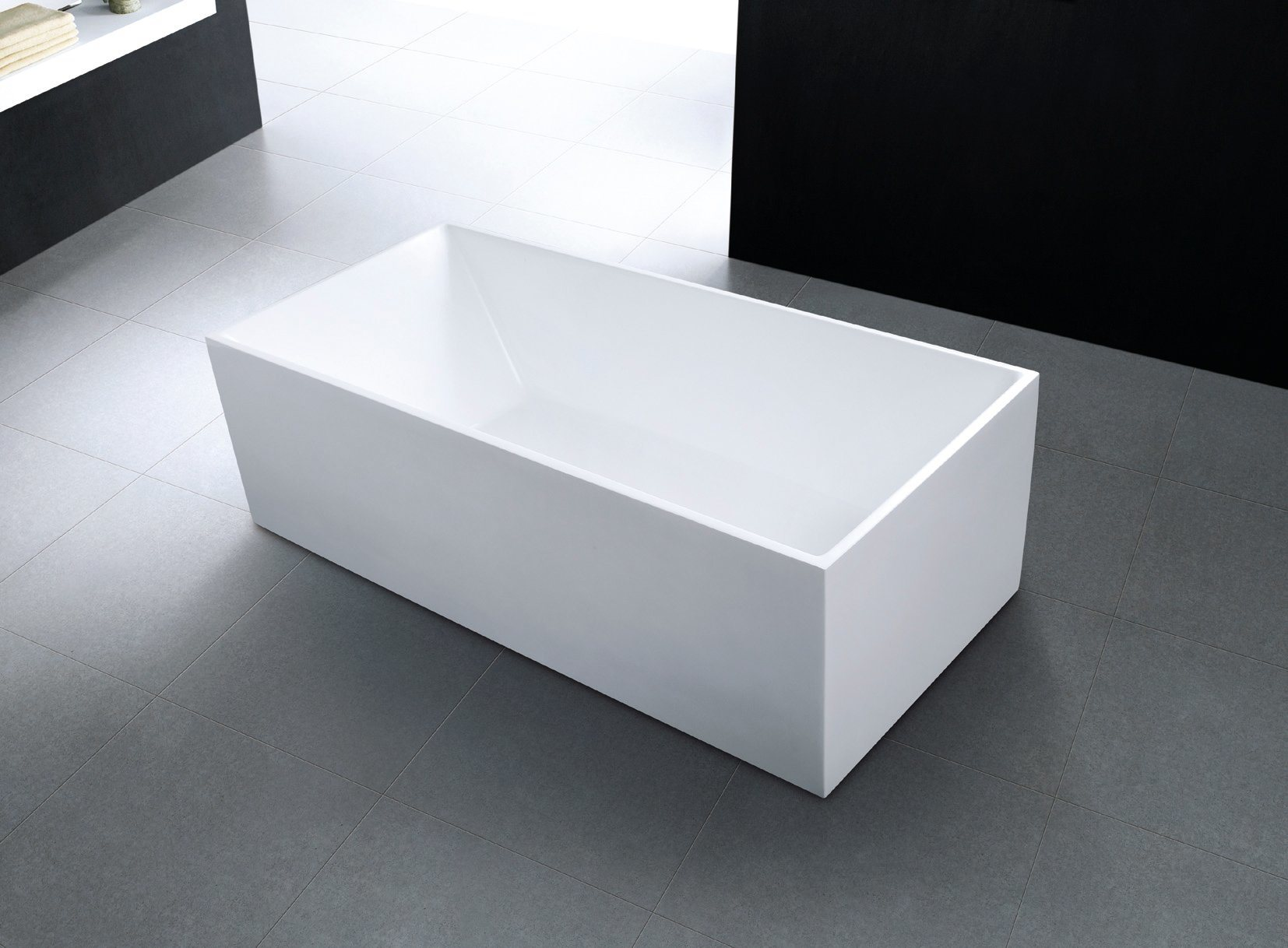 China Hot Selling Square Slim Rim Freestanding Acrylic Bath Tub ...