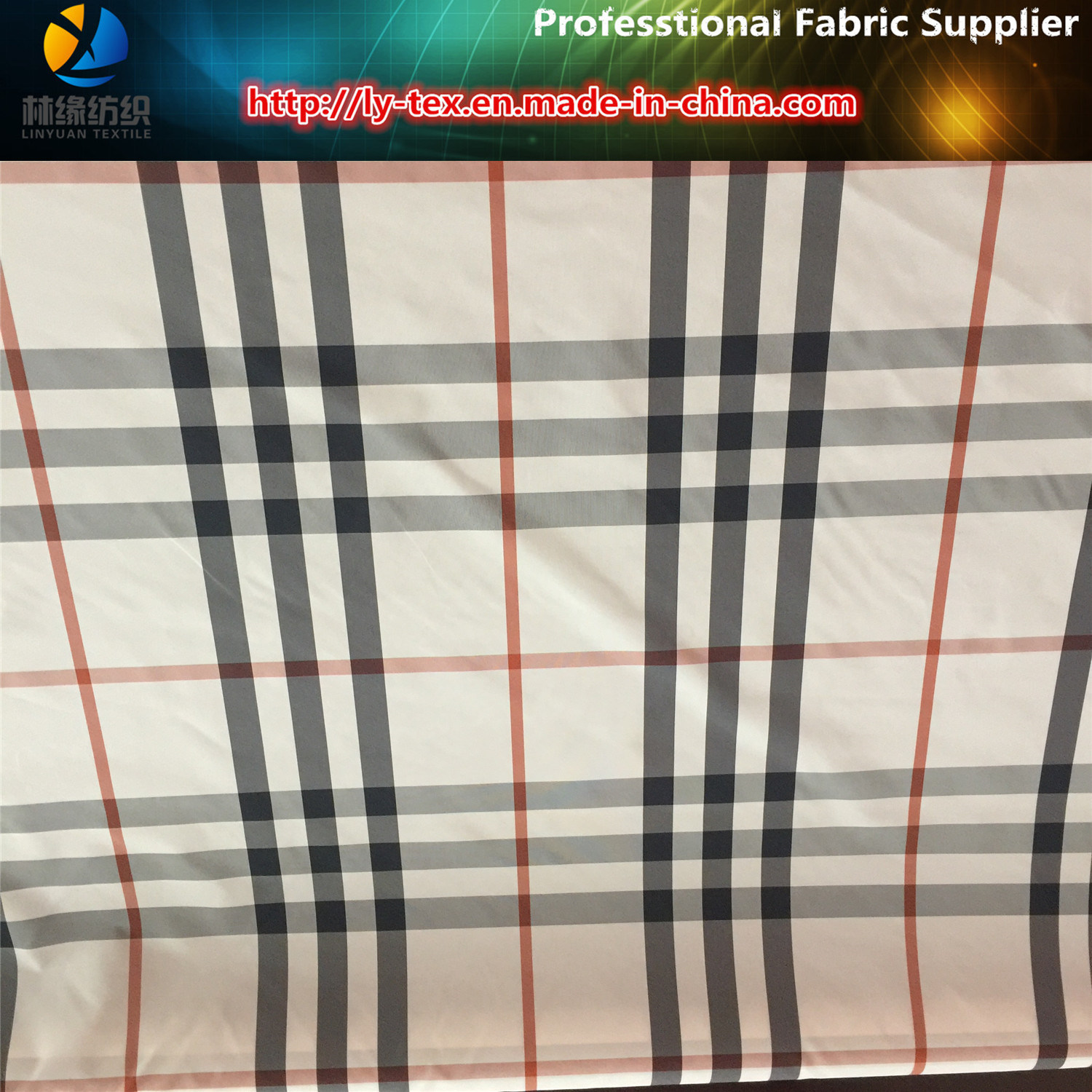 Pongee Yarn Dyed Fabric in Polyester Fabric for Coat pictures & photos