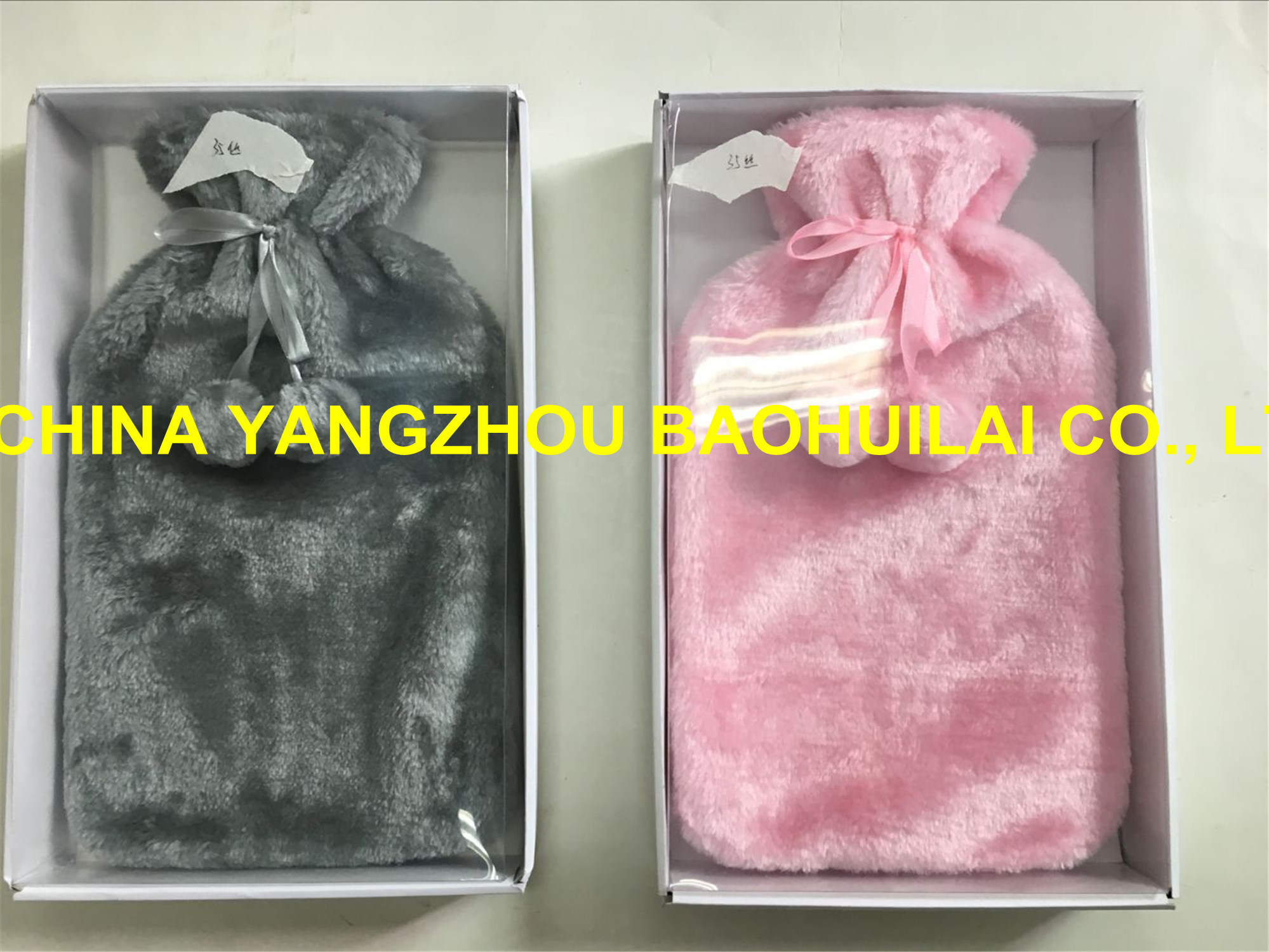 Luxury Box Hot Water Bottle with Fleece/ Knitted/ Plush Cover pictures & photos