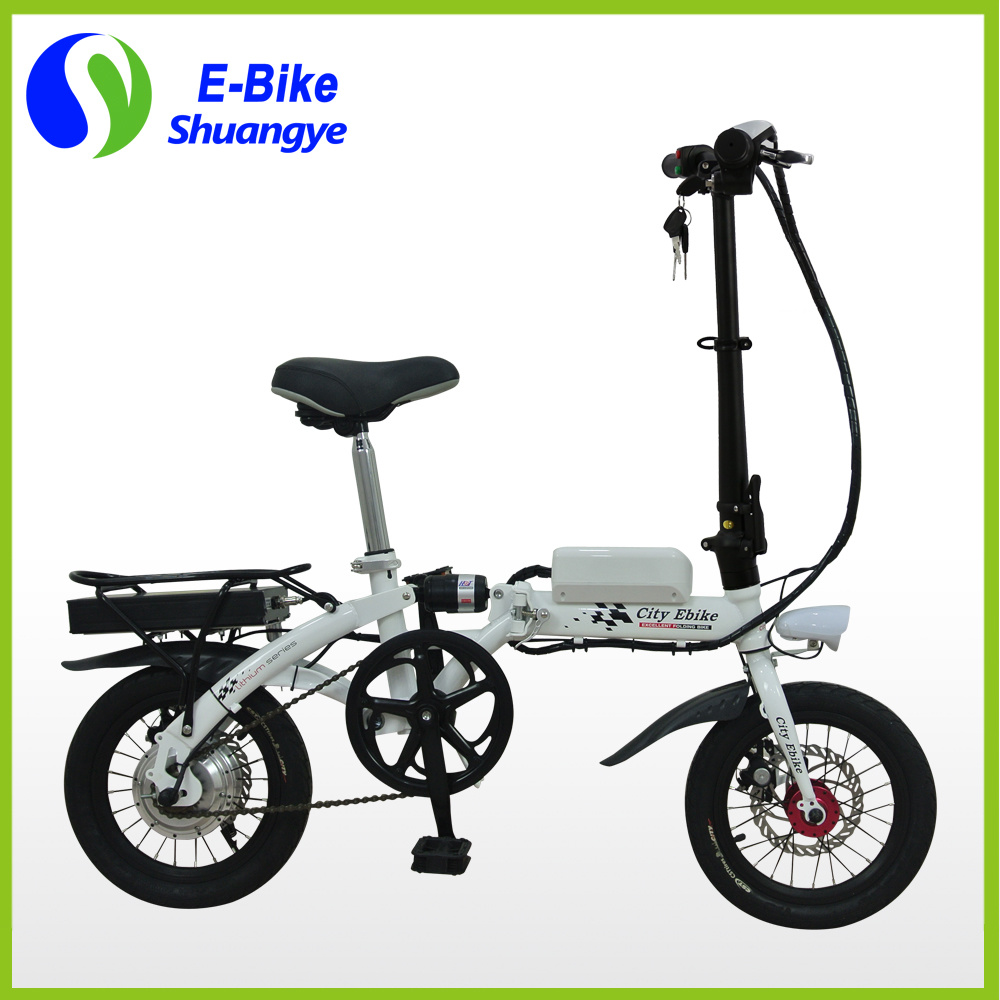 14 Inch Shuangye Cheap Mini Motorized Bicycle pictures & photos