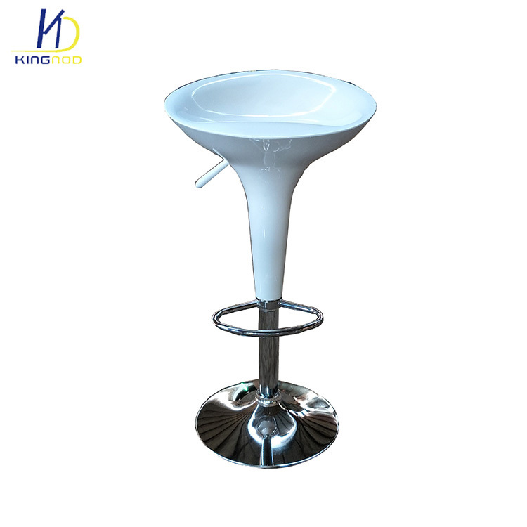 Fabulous Hot Item Colorful Rotary Adjustable Commercial Chromed Base Plastic Bar Chairs Pdpeps Interior Chair Design Pdpepsorg