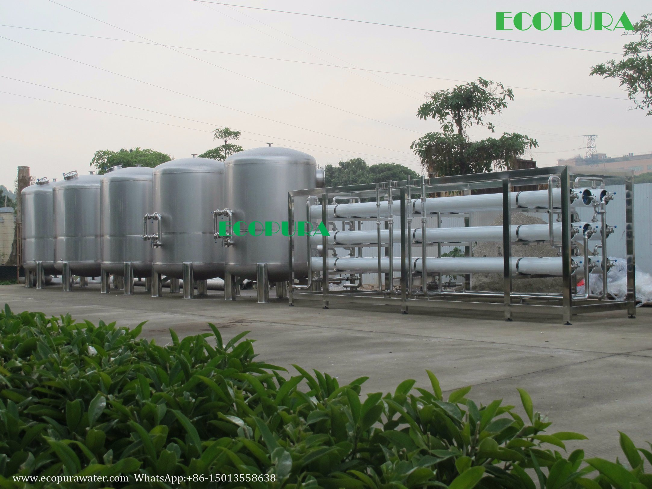 RO Water Treatment / Water Filtration System (Reverse Osmosis Plant)