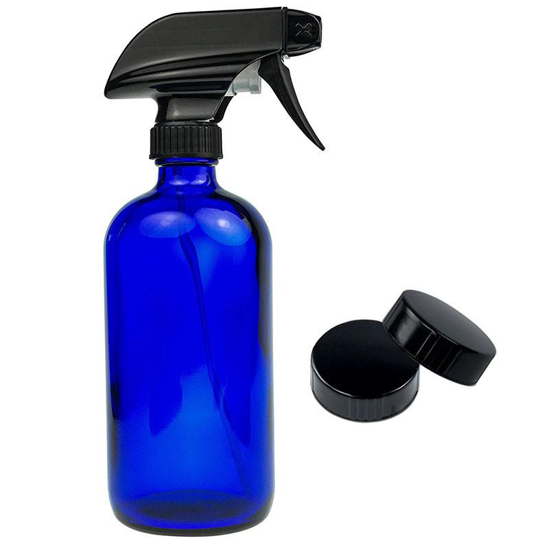 c72f1d62ad31 [Hot Item] 16oz Cobalt Blue Glass Spray Bottle Essential Oil Aromatherapy  Bottle with Black Trigger Sprayer