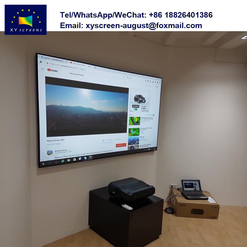 [Hot Item] 90 Inch 100 Inch Fixed Frame Projector Screen Alr for Full HD 4K  Xiaomi Mi Laser Projector