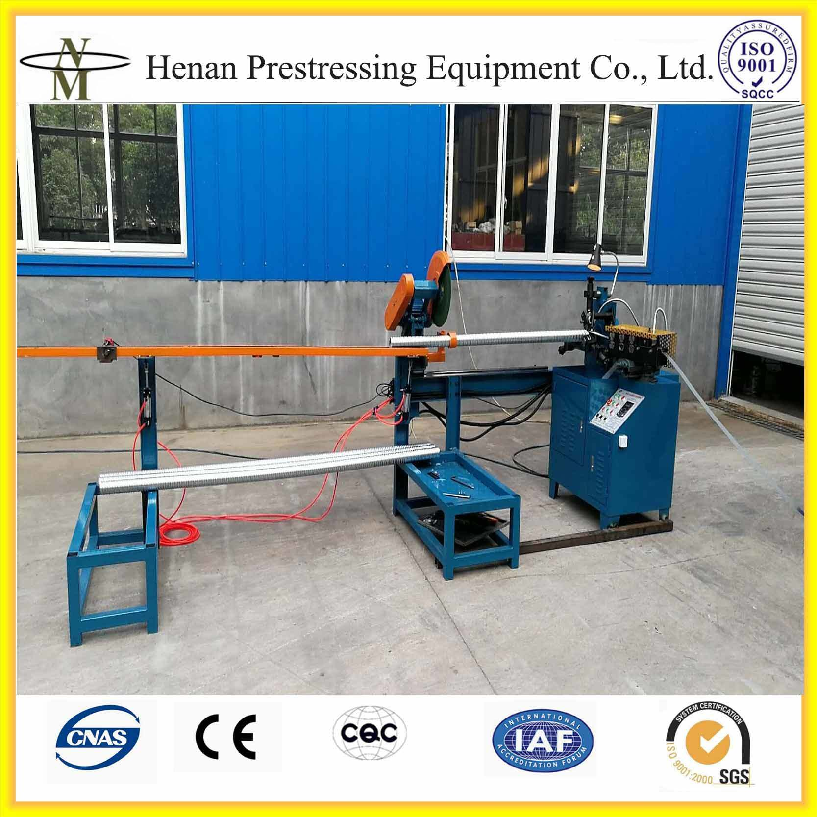 China Post Tension Auto Operated Corrugated Round Duct and Flat Duct ...