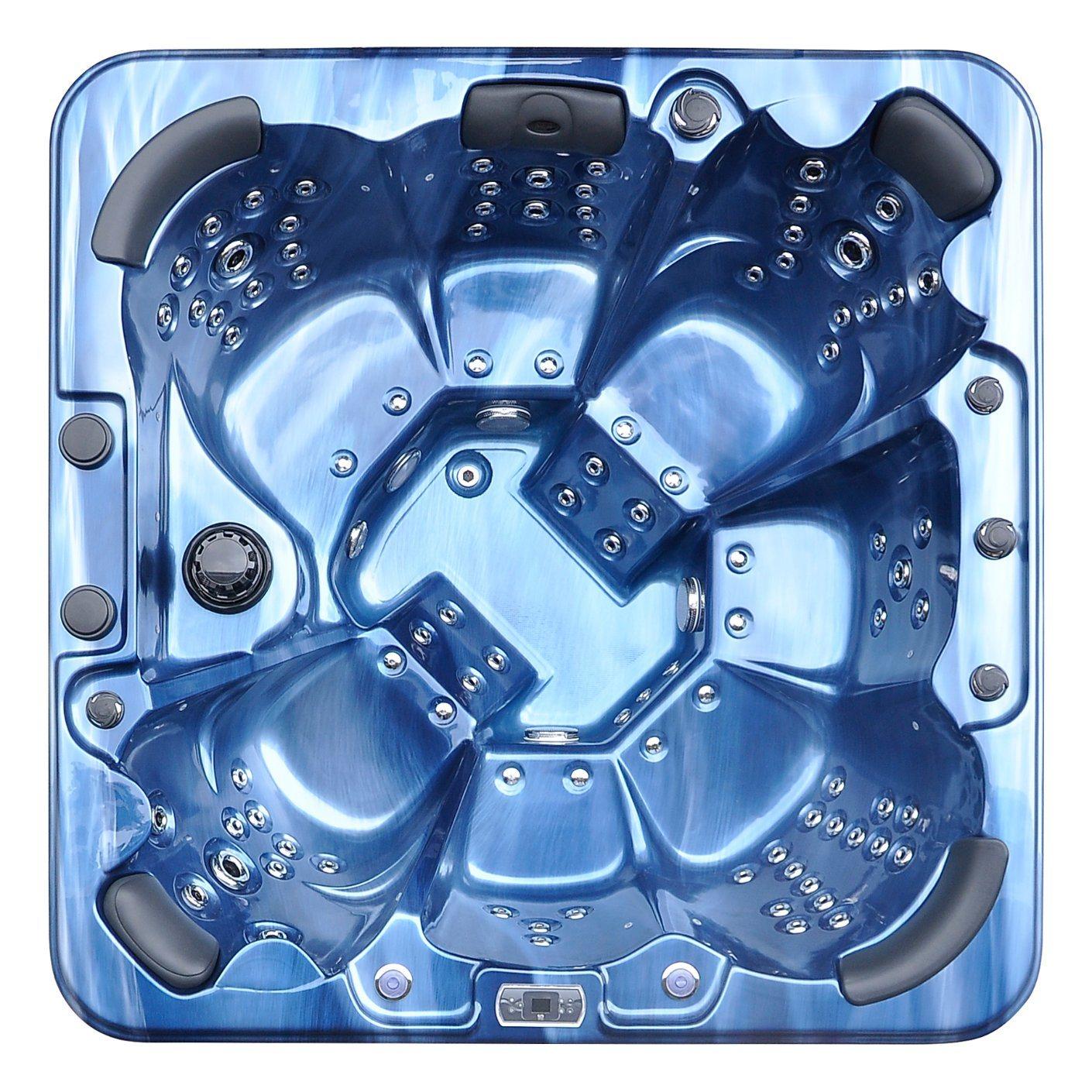 China Kingston Blue Acrylic 96 Jets Bathtub Whirlpool SPA Swimming ...
