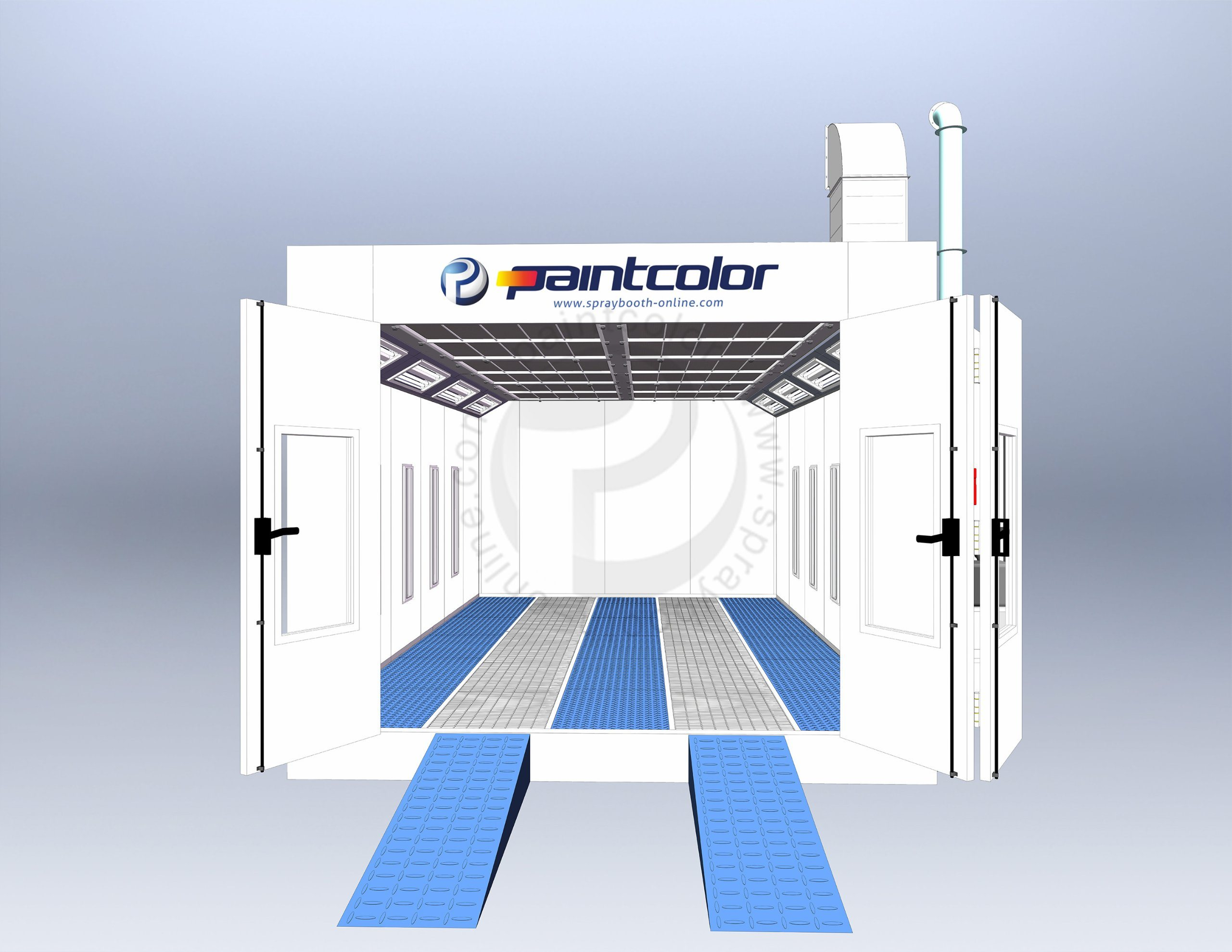 [Hot Item] Spray Booth (Northern Europe Standard) Car Painting Room (CE  Marked spray booth) with German Technology