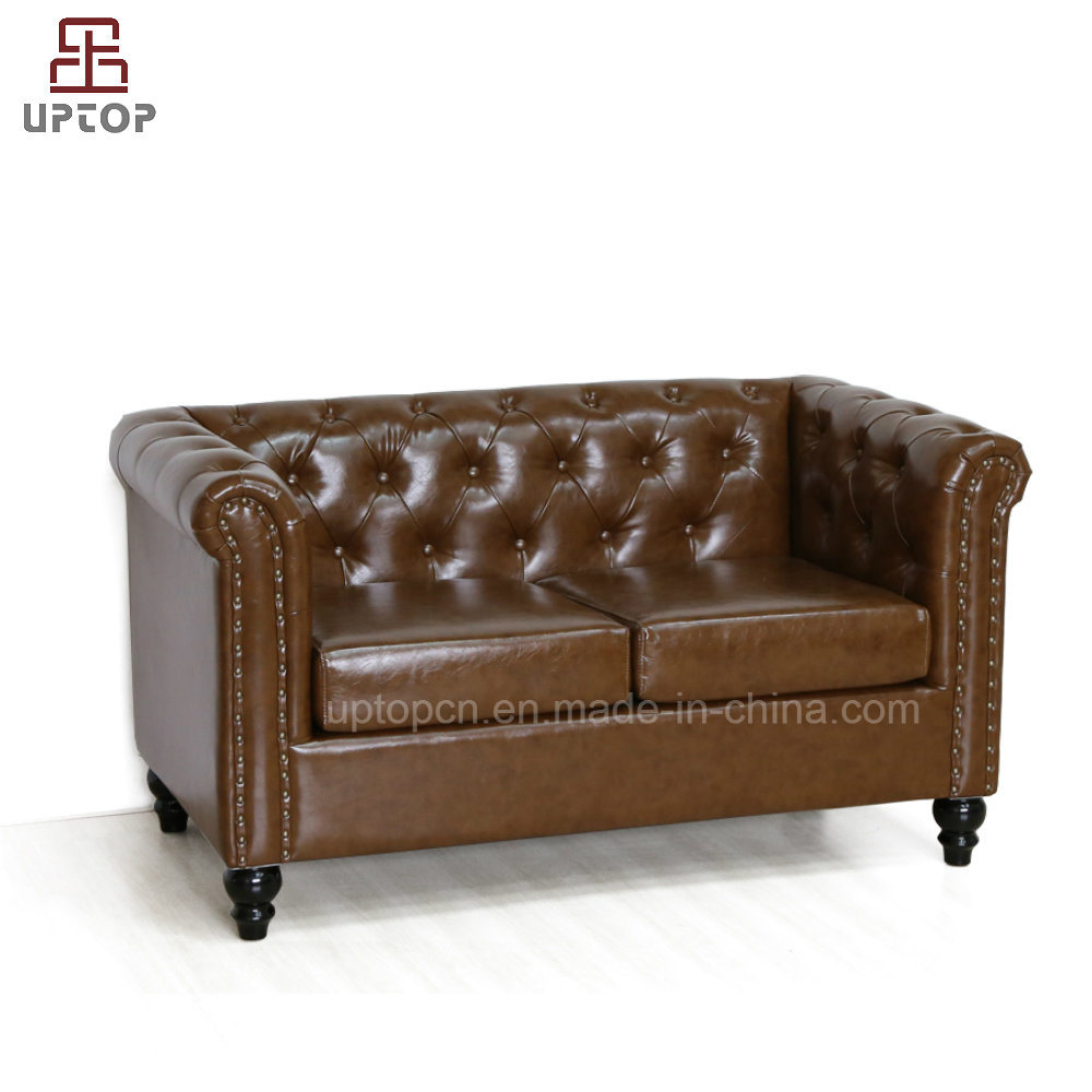 Astonishing Hot Item Modern Loveseat Tufted Leather Chesterfield Sofa Sp Ks316 Gmtry Best Dining Table And Chair Ideas Images Gmtryco