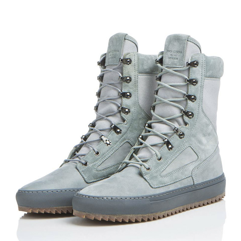Mens Military Tactical Boot Waterproof Hiking Mid Calf Boot Military Work Shoes