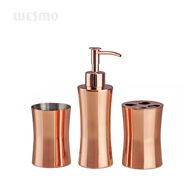 China The Water Plating Rose Gold Stainless Steel Bathroom