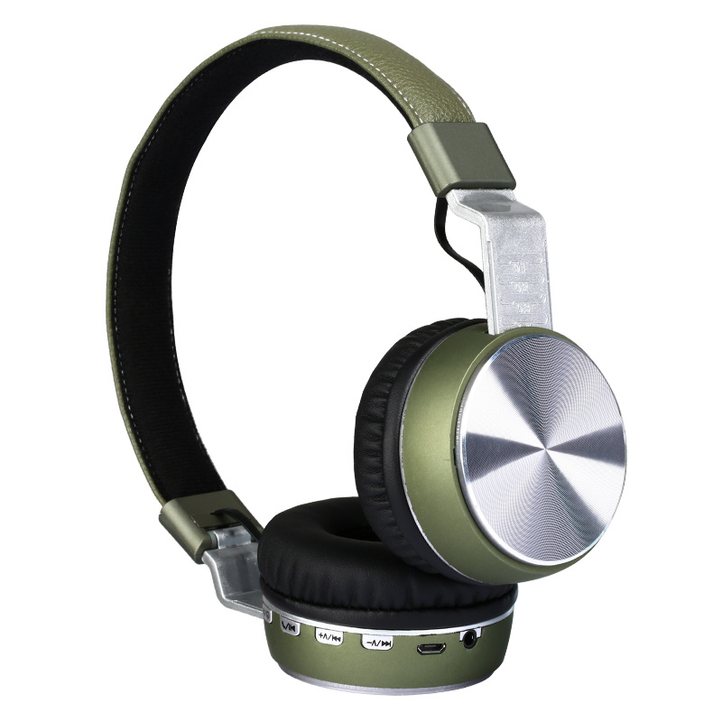 China Foldable Noise Cancelling Bluetooth 5 0 Foldable Leather Stereo Sports Tf Card Wireless Bluetooth Headset With Micrcophone Fg 66 Photos Pictures Made In China Com