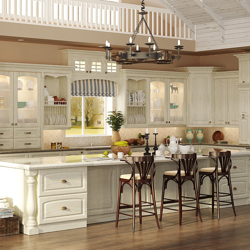 China Oppein Classic Oak Solid Wood Kitchen Cabinets (OP15