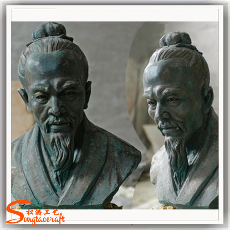 Garden Sculpture Ornament Human Portrait Stone Sculpture