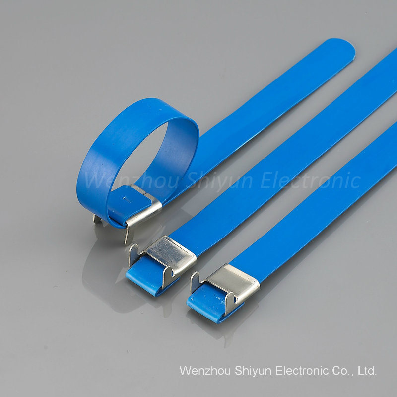 PVC Covered Stainless Steel Cable Ties-L Lock Type