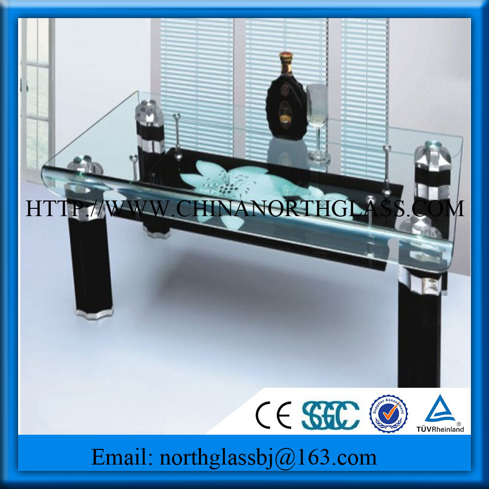 Silk Screen Printed Table Glass