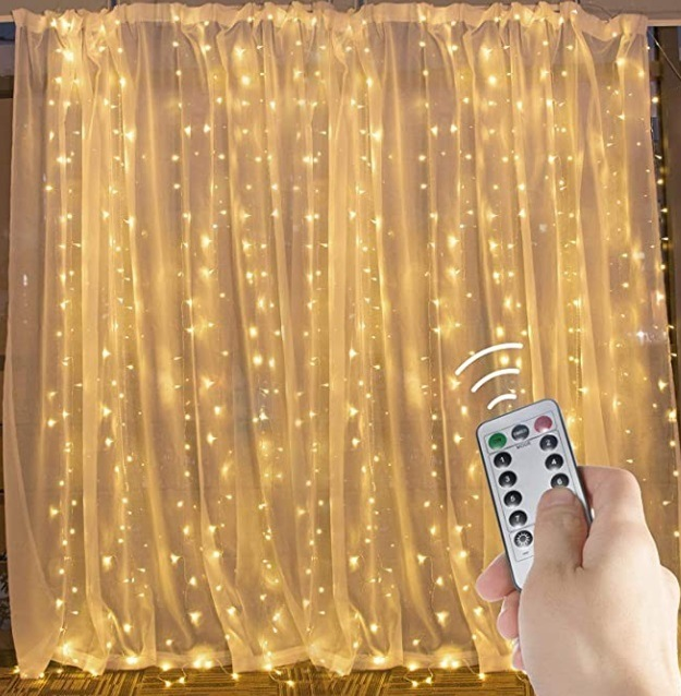 China 300 Led Fairy Lights Curtains Lights 3m 8 Modes String Lights Bedroom Hanging Wall Waterfall Lights For Indoor Outdoor Christmas Wedding China Led Fairy String Lights Led Christmas Lights