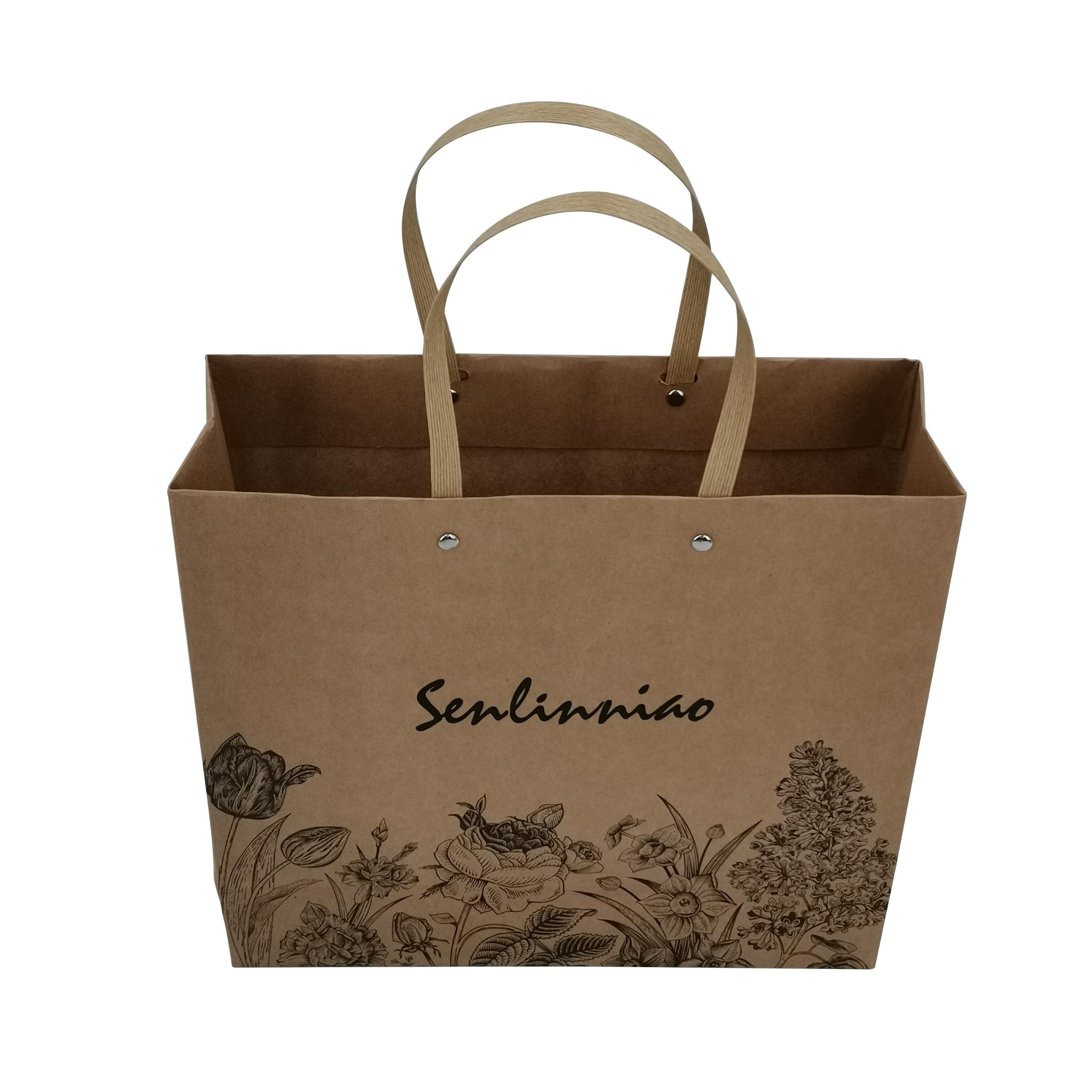 A3 Size Brown Paper Bags With Handles