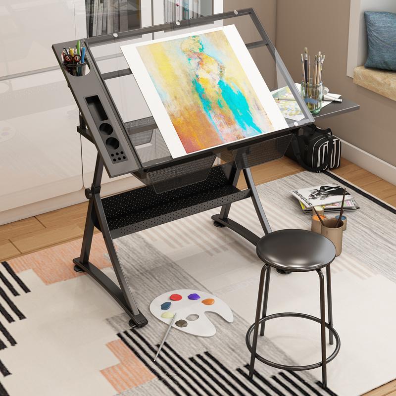 Drafting Table Gl Top Art Drawing