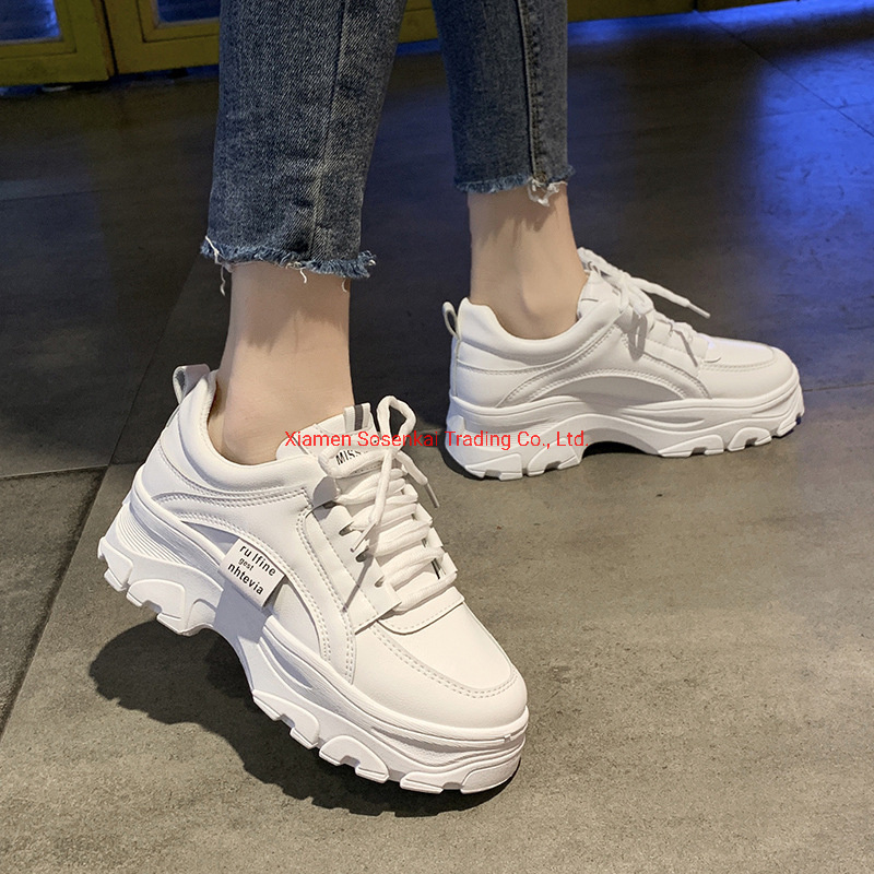 Leather Dad Shoes Korean Casual Women