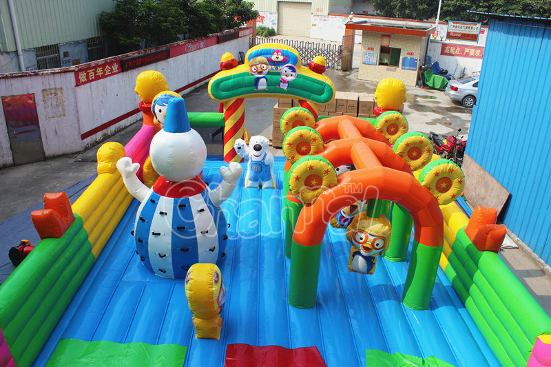 Cartoon Penguin Inflatable Funland Bouncer Obstacle Course for Sale pictures & photos