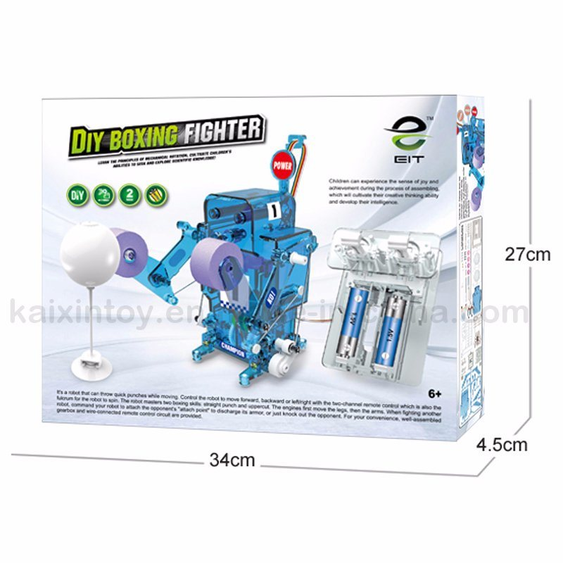 China Boxing Battle Robot DIY Battery Operated Robot Kit Toys
