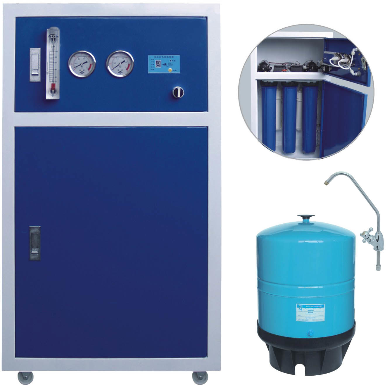 [Hot Item] 400gallon Reverse Osmosis System with Steel Box Auto-Flush by  Microcomputer