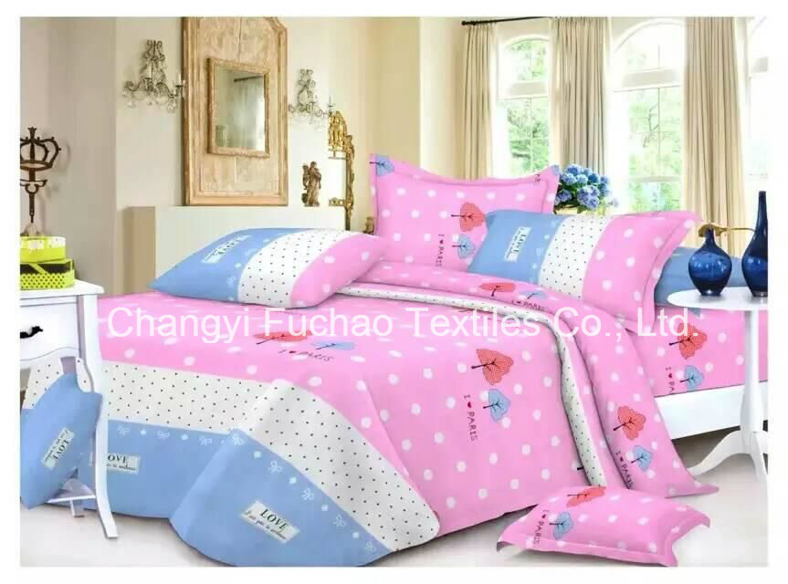China Factory Wholesale Products Printed Woven Fabric Printed Bed Sheets    China Bedding Set, Bed Set