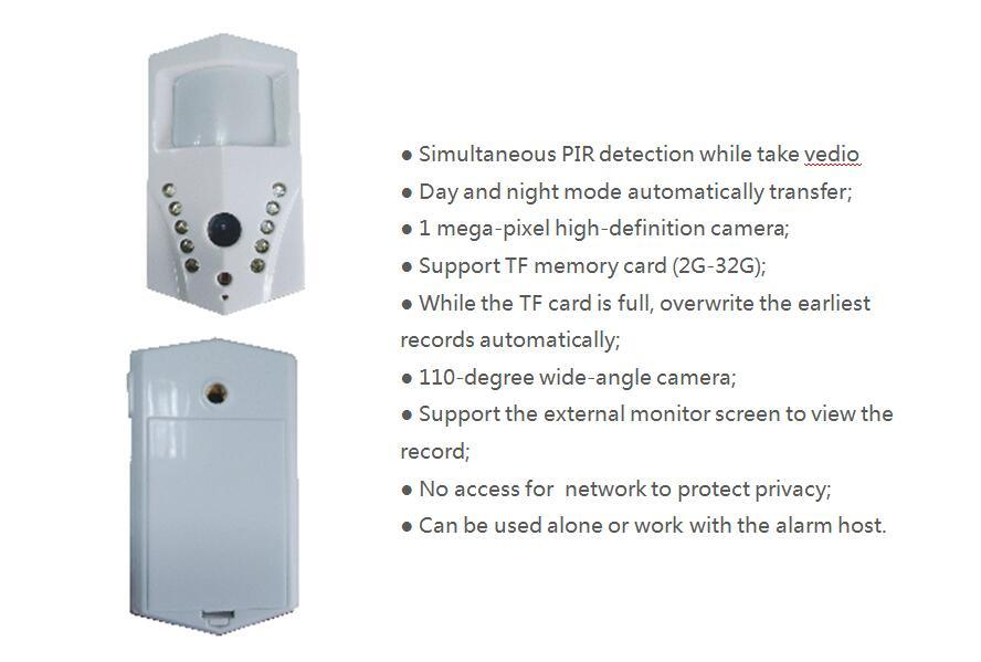 Shenzhen Factory Wireless PIR IR Motion Video Infrared Detector