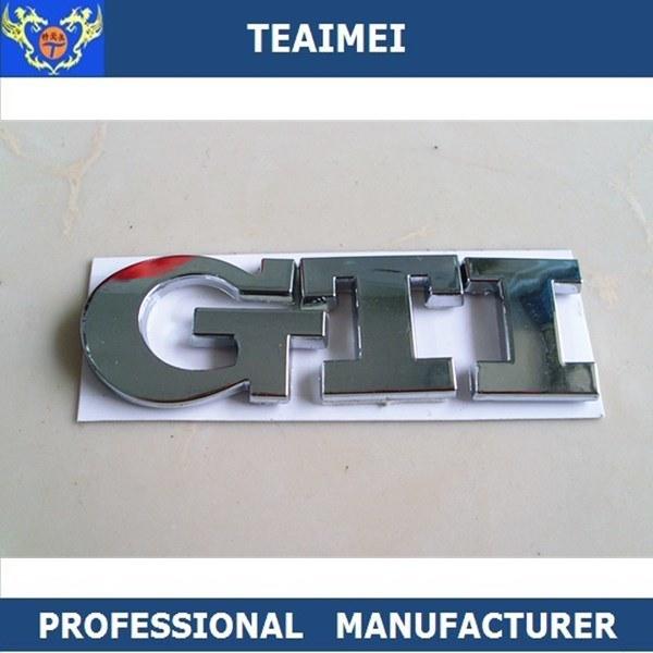 China Gti Abs Chrome 3d Custom Letters Car Badge Emblem Photos