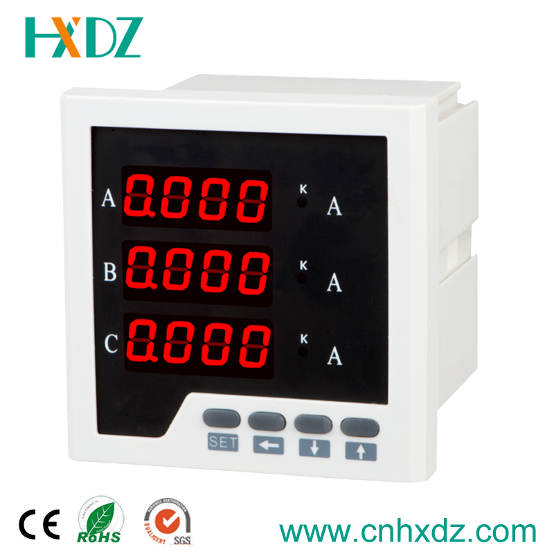 LED Display Three Phase Digital Ammeter with Analog Output