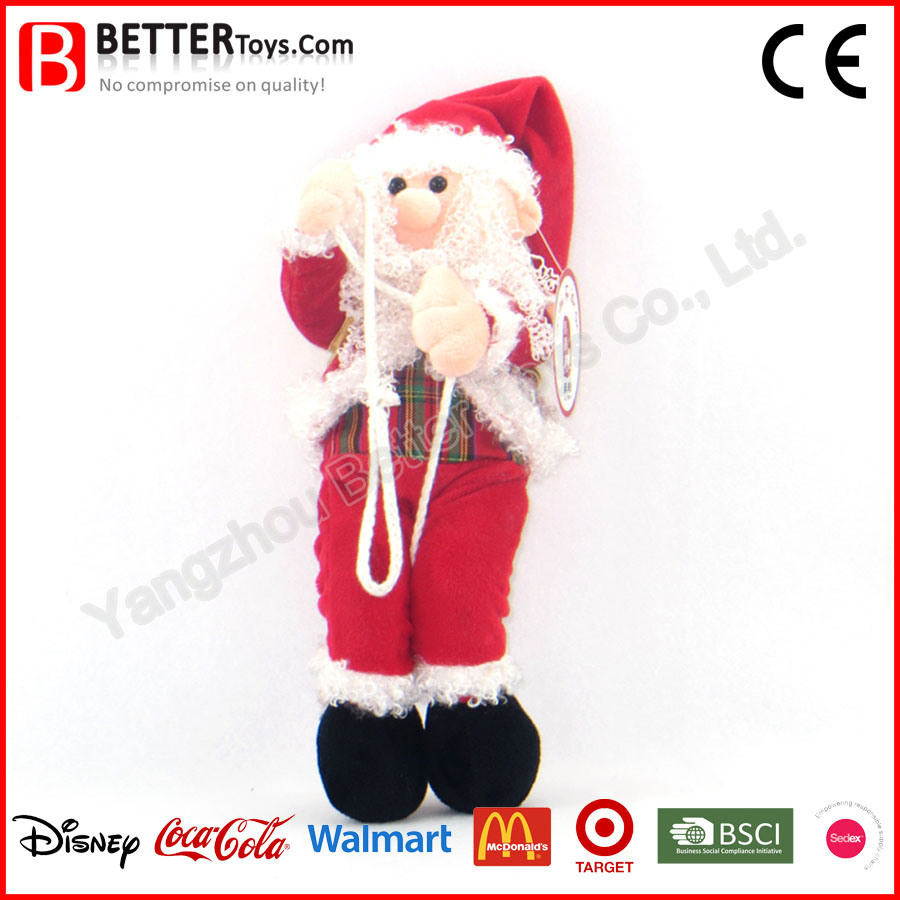 China Christmas Day Stuffed Santa Claus Plush Soft Toy - China Plush ...