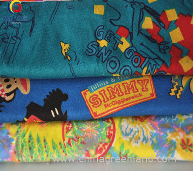 Cotton Spandex Printed Knitting Fabric