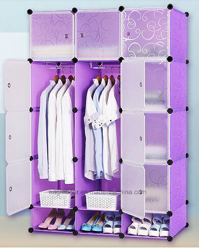 Living Room Wardrobe Cabinet Plastic With Clothes Hanger Pole Folding Pp Panel Diy Bedroom Wardrobes Ep 03