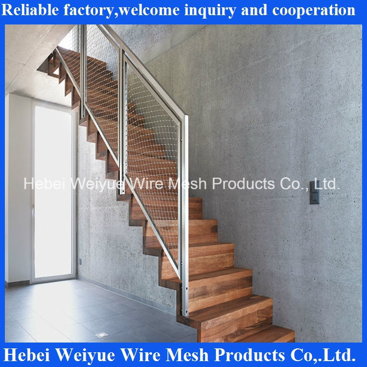 China 316 Stainless Steel Wire Rope Safety Mesh for Stair/Bridge ...